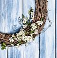 Spring Blossom Wreath by Amanda Elwell
