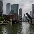 Spring Bridge Lift Scene In Chicago  by Sven Brogren