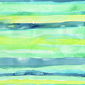Spring Colors Pattern Horizontal Stripes by Olga Shvartsur