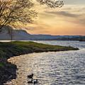 Spring Evening At East Lake Winona by Kari Yearous
