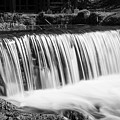 Spring Falls At Hodgson Grayscale by Jennifer White