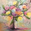 Spring Fling Flowers In A Vase by Debra Wronzberg