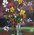 Spring Flowers In Vase by Roger Davey