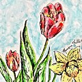 Spring Flowers by Monique Faella