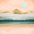 Spring Forest Lake by Spacefrog Designs