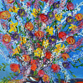 Spring Has Sprung- Abstract Floral Art- Still Life by Kathy  Symonds