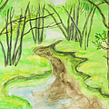 Spring Landscape, Watercolours by Irina Afonskaya