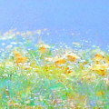 Spring Meadow Abstract by Menega Sabidussi