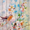Spring On Wood 06 by Aloke Creative Store
