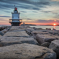 Spring Point Ledge Light Sunrise by Colin Chase