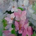 Spring Rain Oil Painting by Chris Hobel