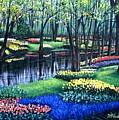 Spring Splendor Tulip Garden by Patricia L Davidson