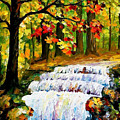 Spring Stream - Palette Knife Oil Painting On Canvas By Leonid Afremov by Leonid Afremov