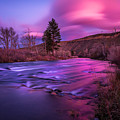 Spring Sunset Along The Truckee River Reno Nevada by Scott McGuire