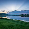 Spring Sunset East Lake Winona by Kari Yearous