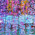 Spring Time In The Woods Abstract Oil Painting by Saundra Myles