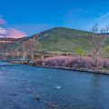 Spring Twilight Along The Truckee River Reno Nevada by Scott McGuire