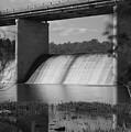 Springfield Lake Dam Grayscale by Jennifer White