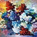 Springs Smile - Palette Knife Oil Painting On Canvas By Leonid Afremov by Leonid Afremov