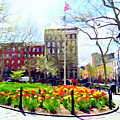Springtime At Abingdon Square Park #2 by Ed Weidman