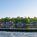 Springtime At Boathouse Row In Philadelphia by Bill Cannon