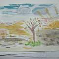 Spring.tree.sun. Water Color 1993 by Dr Loifer Vladimir