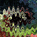 Squash Beans And Peppers Abstract by Tom Janca