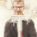 Squeaky Clean Window Washer by Jorgo Photography - Wall Art Gallery