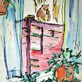 Squirrel On Fence by Rhonda Alexander