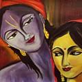 Sreekrishna With Radha by Sreekala Nambiar