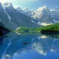 S.short Canoeist, Moraine Lake, Ab, Fl by Steve Short