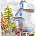St. Anthony's Catholic Church, Mendocino, California by Carlos G Groppa