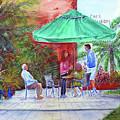 St. Armand's Circle Cafe Scene by Loretta Luglio