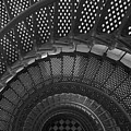 St. Augustine Lighthouse Spiral Staircase I by Clarence Holmes