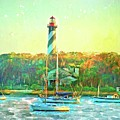 St Augustine Lighthouse Waterscaped by Alice Gipson