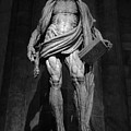 St. Bartholomew In Milan Cathedral By Marco D'agrate In Black And White by Gregory Dyer
