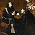 St Benedict Blesses The Bread by Juan Ricci