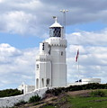 St. Catherine's Lighthouse On The Isle Of Wight by Carla Parris