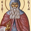 St David Of Evia by Julia Bridget Hayes