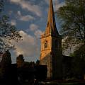 St Davids Church At Sundown by Douglas Barnett