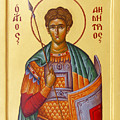 St Demetrios The Great Martyr And Myrrhstreamer by Julia Bridget Hayes