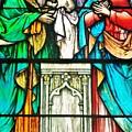 St. Edmond's Church Stained Glass Window - Rehoboth Beach Delaware by Kim Bemis