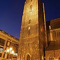 St. Elizabeth's Church Tower At Night In Wroclaw by Artur Bogacki