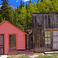 St. Elmo Pink House And Barn by Rich Walter