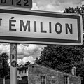 St Emilion Sign In Mono by Georgia Fowler