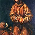 St Francis And Brother Rufus 1606 by El Greco