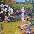 St. Francis In The Garden by Keith Burgess