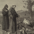 St Francis Preaches To The Birds  by Henry Stacey Marks
