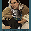 St. Francis With Greyhound by Kris Hackleman