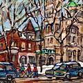 St Gabriel's Rectory  St Charles Church Rue Centre Pointe St Charles  Original Oil Painting Cspandau by Carole Spandau